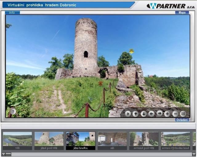 Virtuální prohlídka dobronického hradu